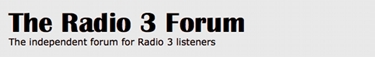 The Radio 3 Forum - Powered by vBulletin